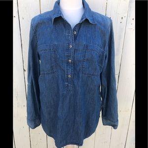 Talbots denim shirt classic xl button front